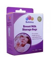 Bubbles Double Ziplock Breastmilk Bags 12oz BIG PACK