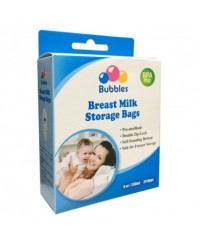 Bubbles Double Ziplock Breastmilk Bags 8oz