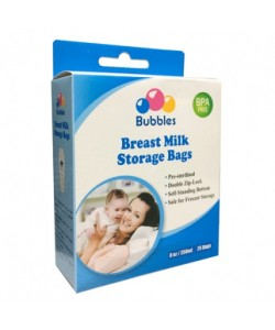 Bubbles Double Ziplock Breastmilk Bags 8oz