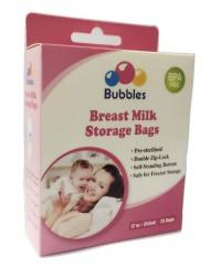 Bubbles Double Ziplock Breastmilk Bags 12oz