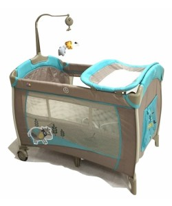 Bubbles Sleepy Cow Playpen with Mosquito Net