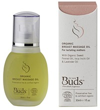 Buds Cherished Organics Breast Massage Oil 30ml