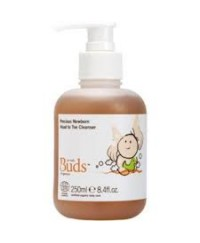 Buds Cherished Organic Precious Newborn Head to Toe Cleanser 250ml