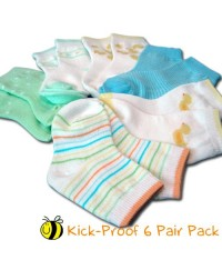 Bumble Bee 6 Pair Pack Kick-Proof