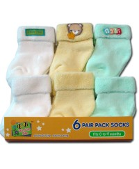 Bumble Bee 6 Pair Pack Terry Boy