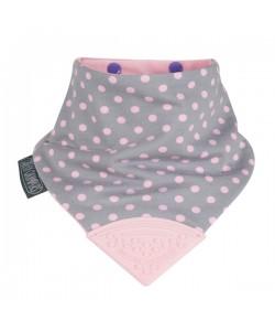 Cheeky Chompers Neckerchew - Polka Dot Pink