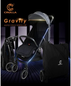 Crolla™ Gravity The Auto-fold Stroller + Free Bag