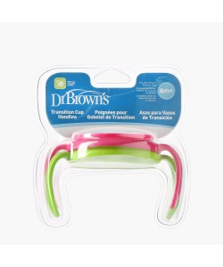 Dr Brown's Transition Cup Handles (Pink / Green)