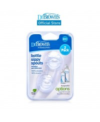 Dr Brown's Narrow Neck Baby Feeding Bottle Sippy Spout Replacement (2-pack)