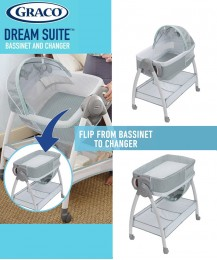 GRACO DREAM SUITE 2 IN1 BASSINET AND CHANGER FOR NEWBORN BABY ~ LULLABY