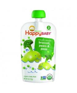 Happy Baby Stage 2 Peas, Broccoli & Pear