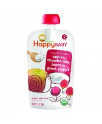 Happy Baby Greek Yogurt Strawberry, Apple & Beet