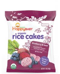 Happy Baby Munchies Blueberry & Beet Rice Cake