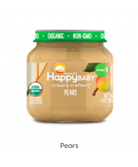 Happy Baby Clearly Crafted Jar S1 - Pears