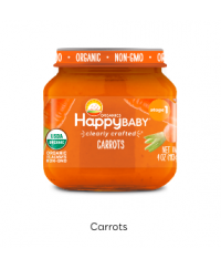 Happy Baby Clearly Crafted Jar S1 - Carrots