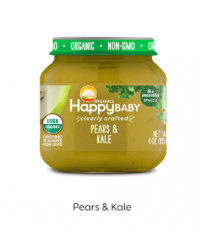 Happy Baby Clearly Crafted Jar S2 - Pears & Kale