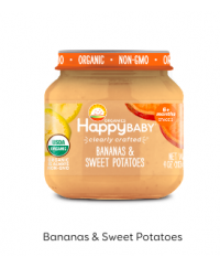 Happy Baby Clearly Crafted Jar S2 - Banana & Sweet Potato