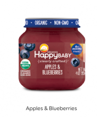 Happy Baby Clearly Crafted Jar S2 - Apple & Blueberries