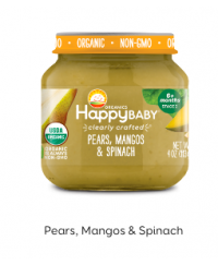 Happy Baby Clearly Crafted Jar S2 - Pear, Mango & Spinach