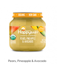 Happy Baby Clearly Crafted Jar S2 - Pears, Pineapple & Avocados