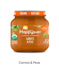 Happy Baby Clearly Crafted Jar S2 - Carrots & Peas