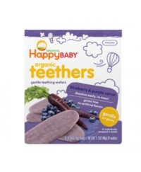 Happy Baby Teething Wafer Blueberry & Purple Carrot