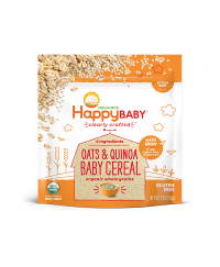 Happy Baby Clearly Crafted Baby Cereal- Oats & Quinoa
