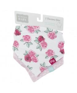 Hudson Baby Bandana Bib-Rose Pink 2pcs