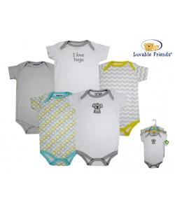 Hudson Baby Short Sleeve Baby Suits - Koala (5pcs)