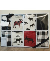 Hudson Baby Gift Box Sets 8pcs - Happy Camper