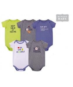 Hudson Baby Short Sleeve Baby Suits - Food (5pcs)