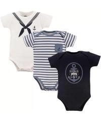 Little Treasure Short Sleeve Baby Suits - Sailor 3pcs Set
