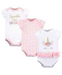 Little Treasure Short Sleeve Baby Suits - Unicorn (3pcs)