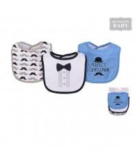 Hudson Baby Cotton Drooler Bib (3pcs)