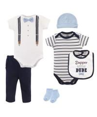Little Treasure Clothing Set - Little Dude 6pcs Set