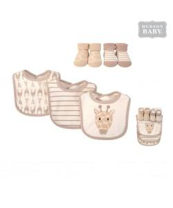 Hudson Baby Bib and Sock 5pc Set-Giraffe (5pcs)