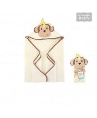 Hudson Baby Animal Hooded Towel - Monkey