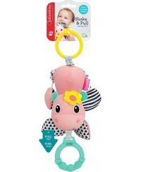 Infantino Shake & Pull Jittery Pal - Hippo