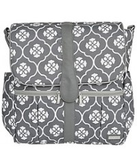 JJ Cole Backpack Diaper Bag-Gray Floret