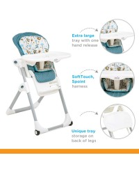 JOIE MIMZY LX 2 in1  HIGHCHAIR (6 MONTHS TO 15KG) Tropical Paradise
