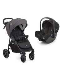 JOIE Litetrax 4 Flex Stroller TRAVEL SYSTEM - Coal
