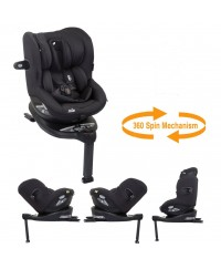 JOIE I-Spin 360 Isofix Carseat Coal  0-19kg(Free Premium Seat Protector)