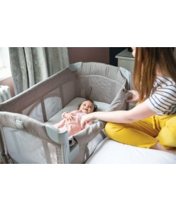 JOIE Kubbie Sleep Travel Cot - Foggy Grey ( Cradle Connect )