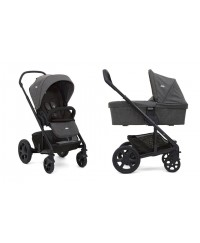 Joie Chrome Pushchair + Carrycot inc Footmuff - Ember