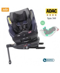 JOIE i-Spin 360 Isofix Carseat - Navy Blazer (Free Seat Protector)