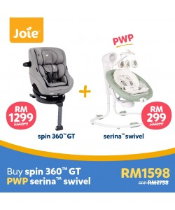 JOIE Spin 360 GT Isofix Carseat - Grey Flannel  (Free Premium Seat Protector)