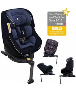 JOIE 360 Isofix Carseat Two Navy (Free Premium Seat Protector)
