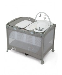Joie Commuter Change & Snooze Playpen - Linen Gray