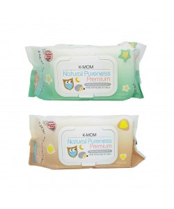 K-Mom Natural Pureness Premium Baby Wet Wipes Embo100Pcs