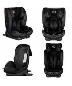 Koopers Lavani Booster Car Seat 1-12 yrs - BLACK ( with Isofix ) Free seat protector